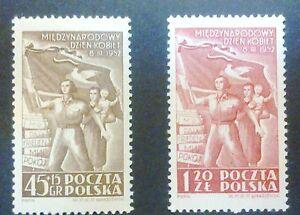 POLAND-STAMPS MNH Fi586-87 ScB64,536 Mi724-25 - Women&#039;s Day, 1952, clean - <span itemprop=availableAtOrFrom>Reda, Polska</span> - POLAND-STAMPS MNH Fi586-87 ScB64,536 Mi724-25 - Women&#039;s Day, 1952, clean - Reda, Polska