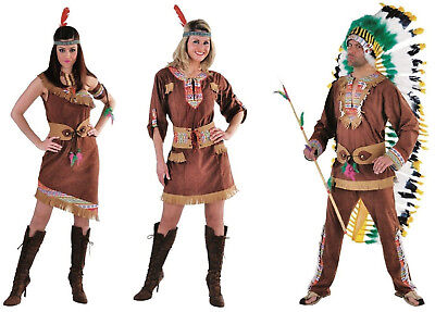 Sexy Indianer Kleid Kostüm Squaw Apache Sioux Indianerin Cow Girl Indianerkostüm (Sexy Indian Girl Kostüme)