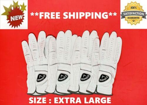 *BRAND NEW* Genuine CALLAWAY Men's LEFT HAND Breathable GOLF GLOVE - XL 4 Pack