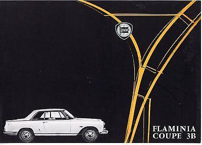 Lancia Flaminia Coupe 3B Pininfarina brochure Prospekt, 1963