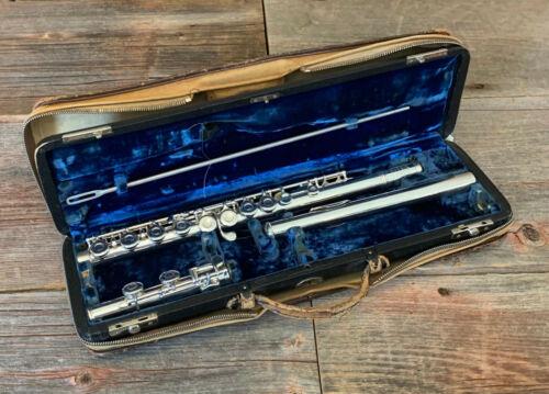 Vintage 1955 Wm. S. Haynes Commercial Model Flute Complete Overhaul Double Case