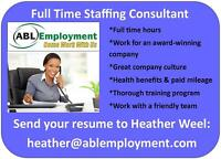 HIRING A STAFFING CONSULTANT IN VANCOUVER & NEW WESTMINSTER!
