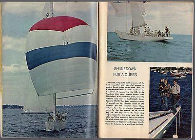 1964 Tv Guide Article Americas Cup Boat Race Nefertiti Wbz Boston Mass