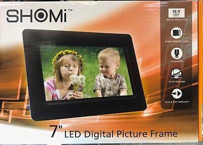 BRAND NEW Shomi SP706P1, 7″ Digital Picture Frames BLACK