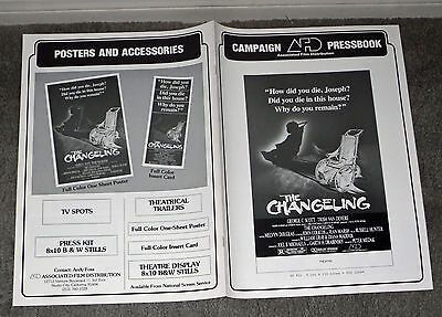 THE CHANGELING original 1980 movie pressbook GEORGE C. SCOTT