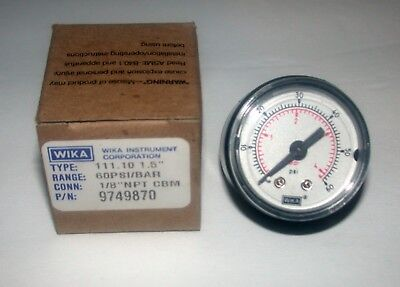 1.5 Pressure Gauge 0 To 60 Psi Range 18 Npt Wika Instrument Corp 111 10