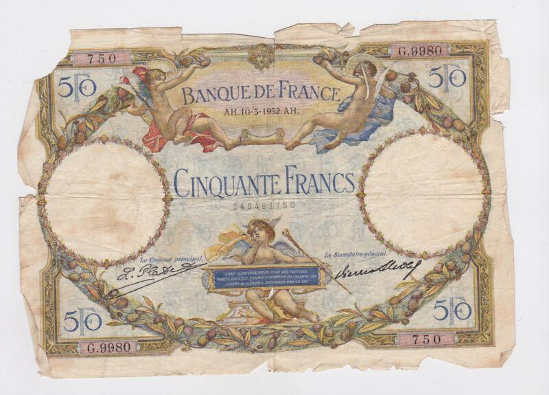 France - 50 Francs, 1932