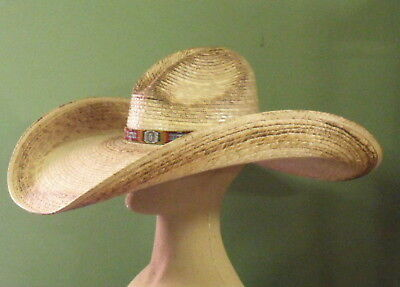 - CHARLIE 1 HORSE COYOTE MEXICAN PALM STRAW WESTERN STYLE SUN HAT
