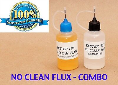 60 Ml. Combo Kester 951 Kester 186  Soldering Liquid Flux Reflow No Clean