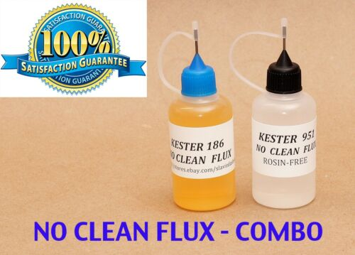 60 ml. COMBO  KESTER 951 + KESTER 186   Soldering Liquid Flux Reflow  NO CLEAN