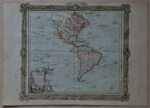 1786 Genuine Antique map North & South America, L