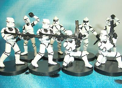 Star Wars Miniatures Lot  Clone Trooper Clone Strike Gunner !!  s97