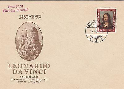 Bund, Michel Nr. 148, Mona Lisa, Erstagsbrief, FDC