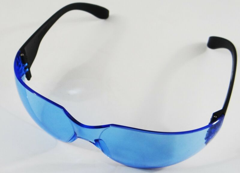 Anti-Scratch 12/BX ANSI Safety Glasses Blue Lens  4 Boxes = 48 Pieces 