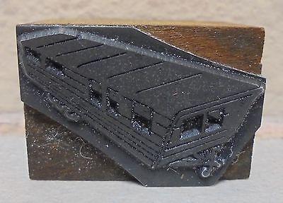 Vintage Trailer Metal Wood Letterpress Printing Block Type