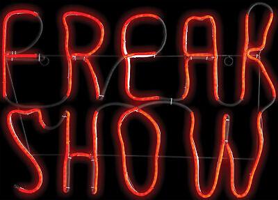 Freak Show Leuchtreklame Circus Fair Karneval Led-Licht Leuchtende Halloween