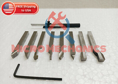 14 Hss Lathe Pre-formed Tools Set Of 8 Pieces Mini Parting Cut Off Tool 6mm