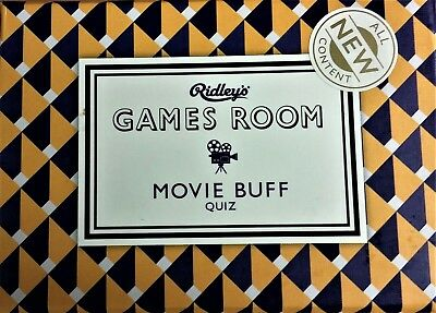 NIB Ridley's Games Room, Movie Buff Quiz, 140 Movie Trivia Questions