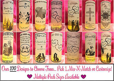 Personalized Vellum Luminaries Wedding Table Centerpieces Decorations Numbers #2 - Wedding Luminaries