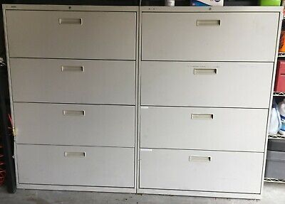 4-drawer Lateral File Cabinets 2 Legalletter Adjustable Depth
