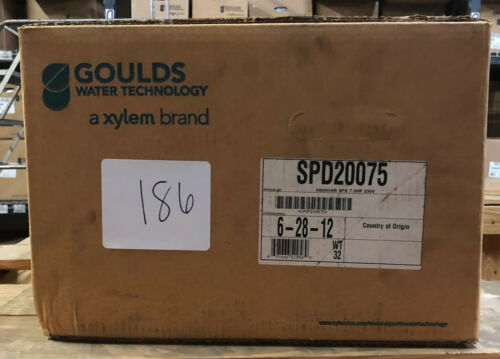 XYLEM GOULDS AQUAVAR SINGLE PUMP DRIVE VARIABLE SPEED CONTROLLER 7.5 HP 208 V