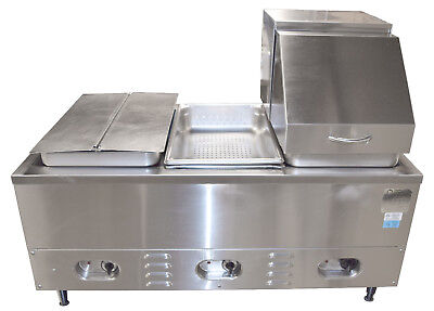 Crown Verity Cv-3whs Electric Hot Dog Steamer Bun Warmer 3 Bay Steam Table