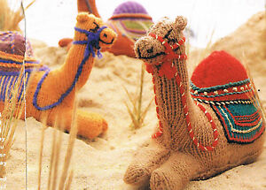 about ADORABLE Christmas NATIVITY SCENE CAMEL KNITTING PATTERN TOY