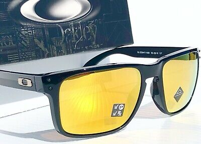 NEW Oakley HOLBROOK XL BLACK Midnight Edition 24K Gold POLARIZED Sunglass 941710