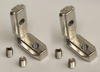 2 Pcs. Corner Joining Plate Bracket For T-slot Aluminum Extrusion 3030 Corners
