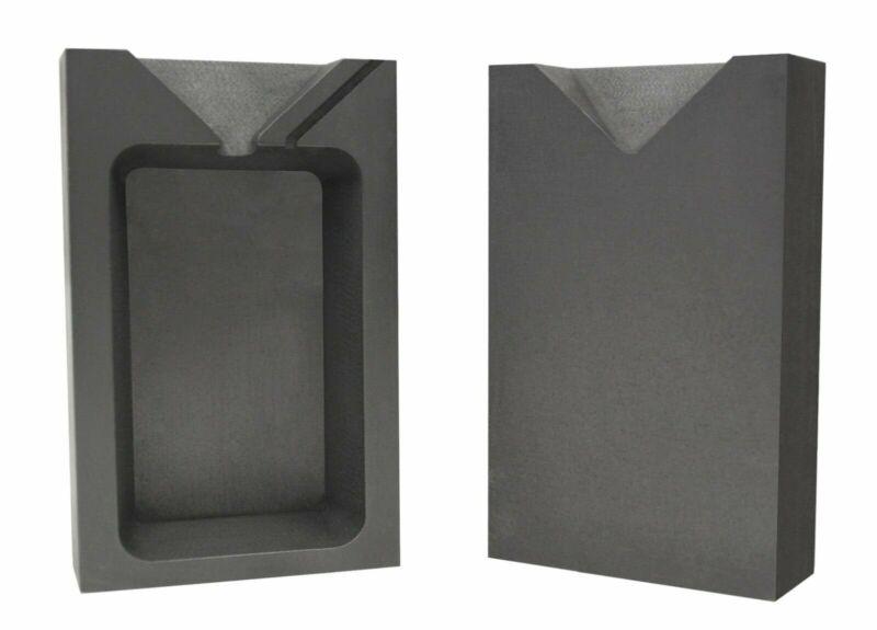 10 Troy Ounce Silver Rectangular Two Part Split Graphite Ingot Mold