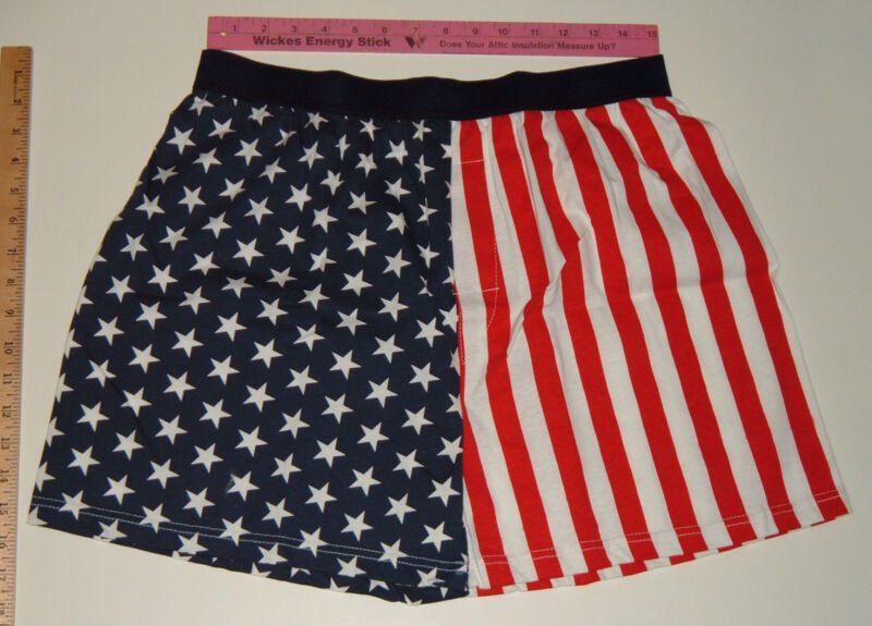 Patriotic Red, White & Blue Boxer Shorts - Extra Large