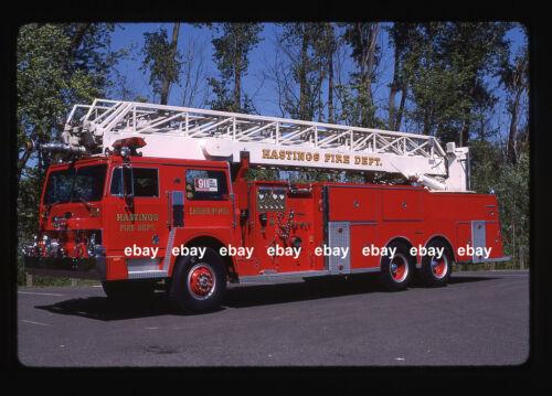 Hastings MN 1970s Hendrickson General LTI RM Aerial Fire Apparatus Slide