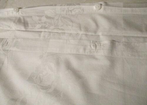 """Beautiful Antique Vintage Cotton/ Linen Rose Damask Button Duvet Cover  48"""" x73"""""""
