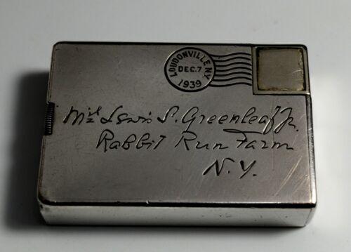 Vintage Dunhill Lighter Sterling Silver Art Deco New York Switzerland London 30s