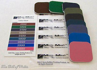 "GENUINE MICRO-MESH  2"" x 2"" Foam Polishing & Finishing Pads - Made in USA"