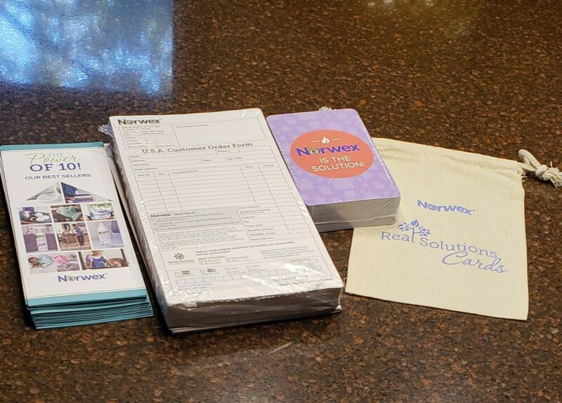 Norwex Consultant Supplies Solution Cards, Pamphlets & Customer Order Forms