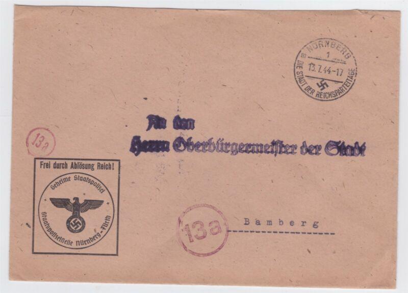 WW II GERMANY GESTAPO SECRET POLICE COVER