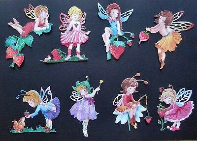 TATTERED LACE STRAWBERRY STORIES CHARISMA FAIRIES 8 DIE CUTS