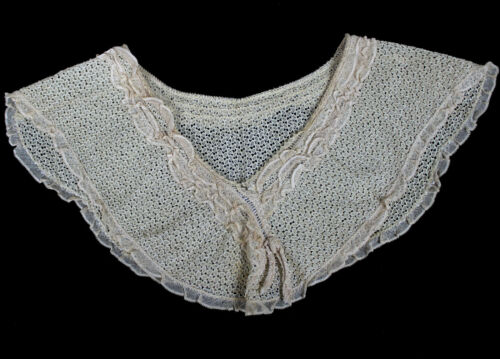 Beautiful Antique Late 1800s Early 1900s Victorian Lace Collar Handmade