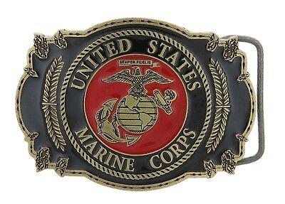 United States Marine Corps Belt Buckle Globe Semper Fi  -  M