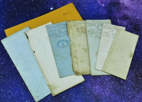 Lot of old documents 19th century. Includes Warranty Deeds. OD-2 (BI#41/191211)