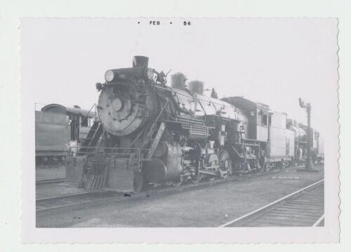 NICE Vtg 1956 Real Photo C & S Railroad 2-8-2 Steam Train Engine #801 Denver CO
