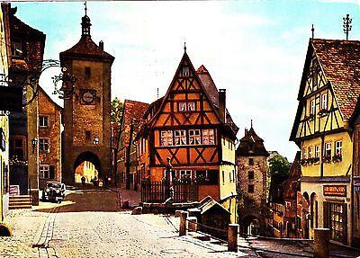 Rothenburg ob der Tauber , Plönlein , Ansichtskarte 1967 gelaufen