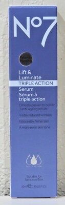 Used, No7 Lift & Luminate TRIPLE ACTION Serum 1.69oz (50ml) Hypo-allergenic - NEW! for sale  Fort Lauderdale