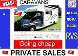 RVS & CARAVANS  -Going cheap Jayco crusader galaxy Roma Adelaide CBD Adelaide City Preview