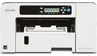 ricoh 3110 gel printer with chromablast ink 7 transfer paper