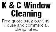 K.c window cleaning Kangaroo Flat Bendigo City Preview