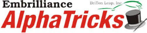 Embrilliance AlphaTricks Alpha Tricks Alphabet Letter Font Embroidery Software