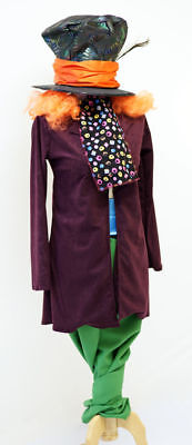 Alice in Wonderland/Carroll THE MAD HATTER Great Quality Costume-All Men's Sizes