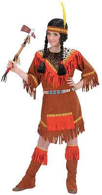 Indianer Kostüm Kriegerin für Mädchen NEU - Mädchen Karneval Fasching Verkleidun